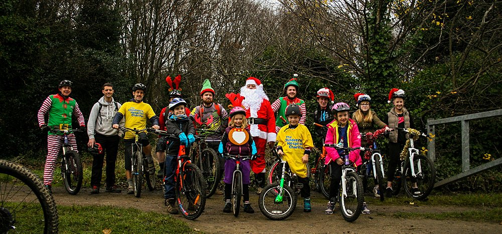 Local Mountain Bike club Helps out Santa